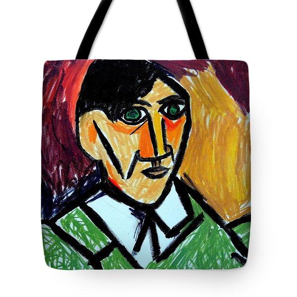 Pablo Picasso 1907 Self-portrait Remake Tote Bag