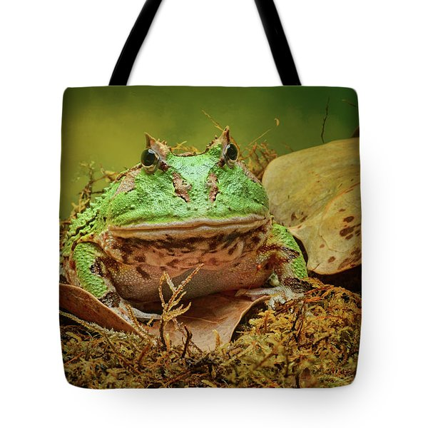 Tote Bag featuring the photograph Pac Man - Frog by Nikolyn McDonald