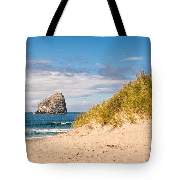 Tote Bag featuring the photograph Pacific Beach Haystack by Michael Hope