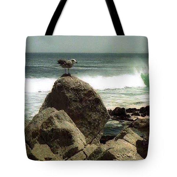 Pacific Coast Beach Rock Tote Bag