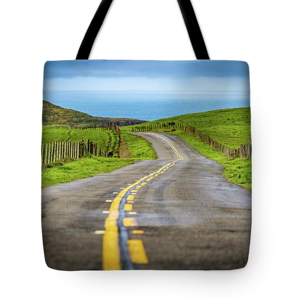 Pacific Coast Road To Tomales Bay Tote Bag