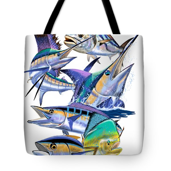 Pacific Gamefish  Tote Bag by Carey Chen