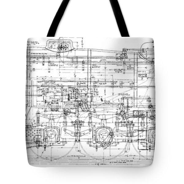 Pacific Locomotive Diagram Tote Bag