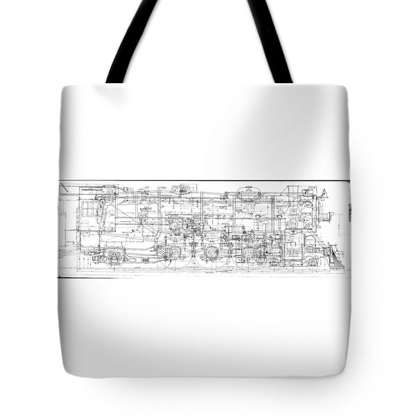 Pacific Locomotive Diagram Tote Bag