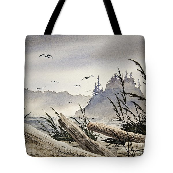 Pacific Northwest Driftwood Shore Tote Bag