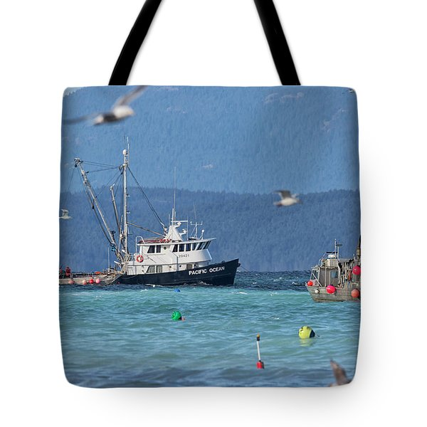 Tote Bag featuring the photograph Pacific Ocean Herring by Randy Hall