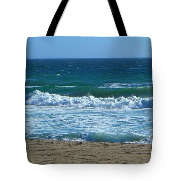 Tote Bag featuring the photograph Pacific Ocean - Malibu by Nora Boghossian