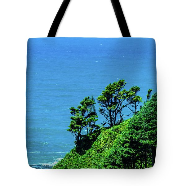 Tote Bag featuring the photograph Pacific Ocean Trees by Jonny D