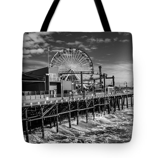 Pacific Park Bw Tote Bag by Robert Hebert