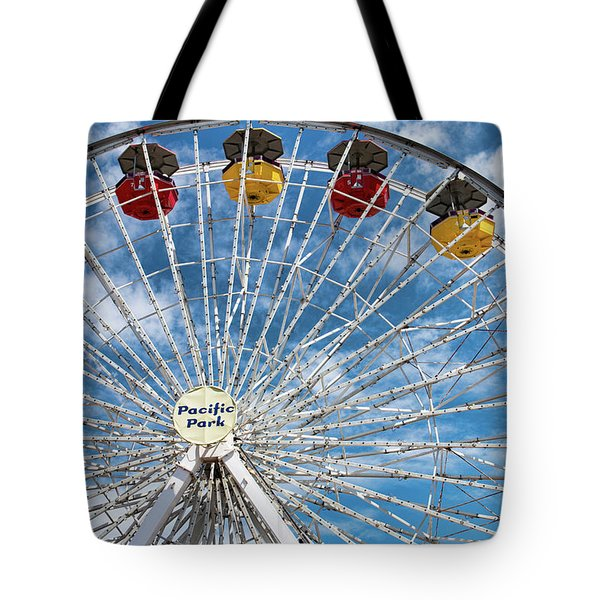 Pacific Park Ferris Wheel Tote Bag