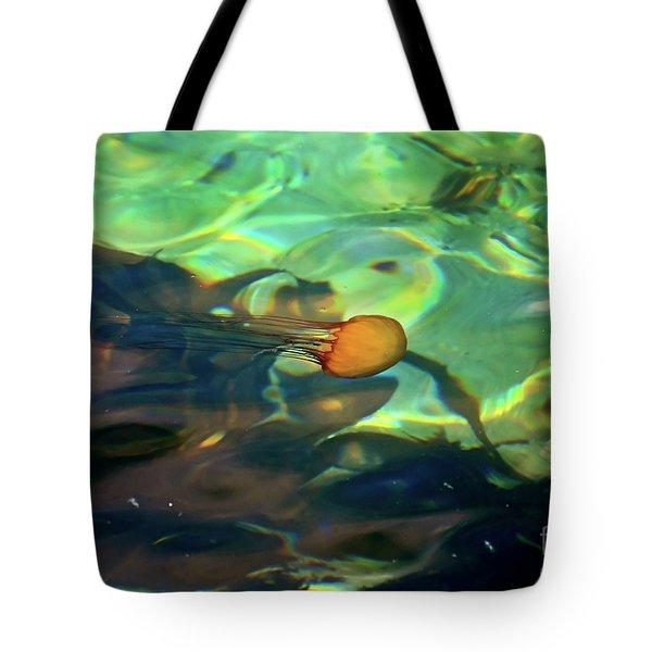 Pacific Sea Nettle Jellyfish Tote Bag