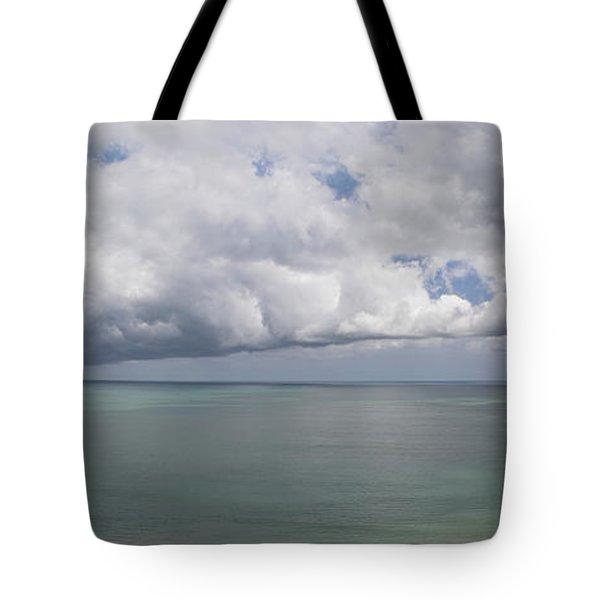 Pacific Storm Panorama Tote Bag