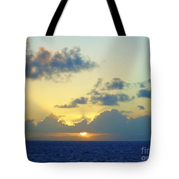 Pacific Sunrise, Japan Tote Bag