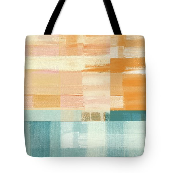 Pacific Sunset- Abstract Art By Linda Woods Tote Bag