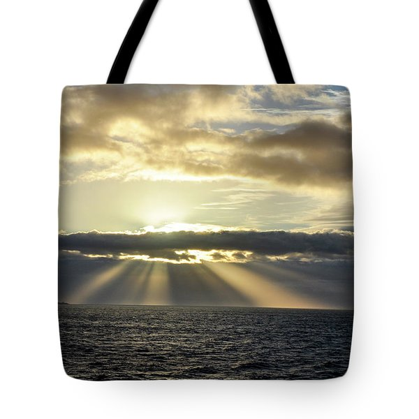 Tote Bag featuring the photograph Pacific Sunset by Allen Carroll