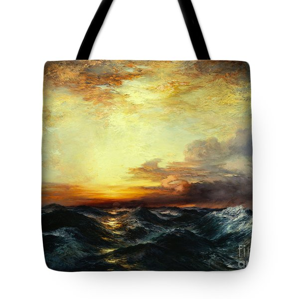 Pacific Sunset Tote Bag by Thomas Moran