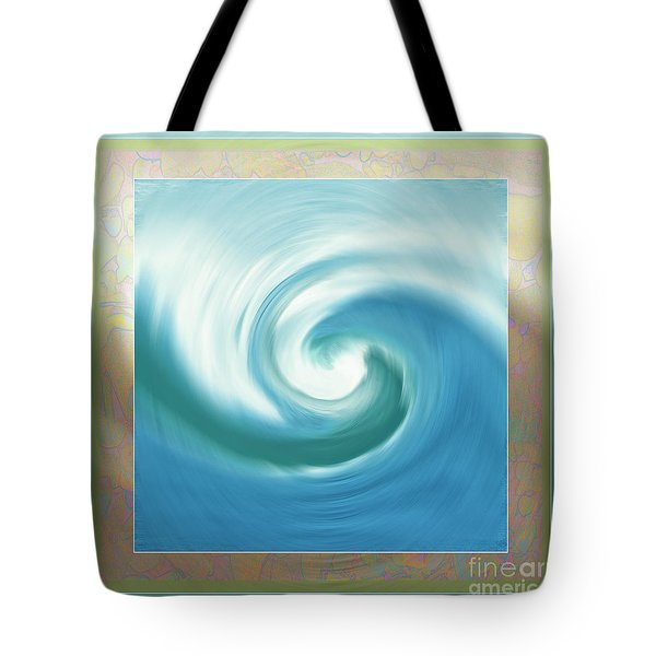 Pacific Swirl With Border Tote Bag