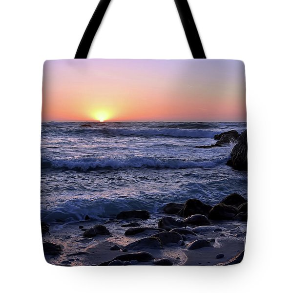 Tote Bag featuring the photograph Pacific Twilight by Gina Savage