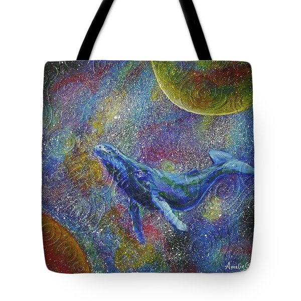 Pacific Whale In Space Tote Bag