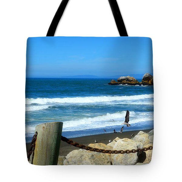 Tote Bag featuring the photograph Pacifica Coast by Glenn McCarthy Art and Photography
