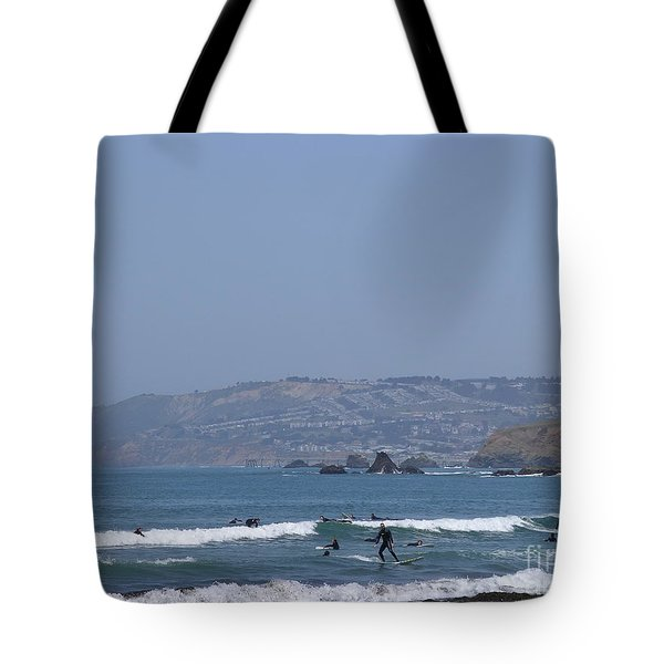 Pacifica Surfing Tote Bag