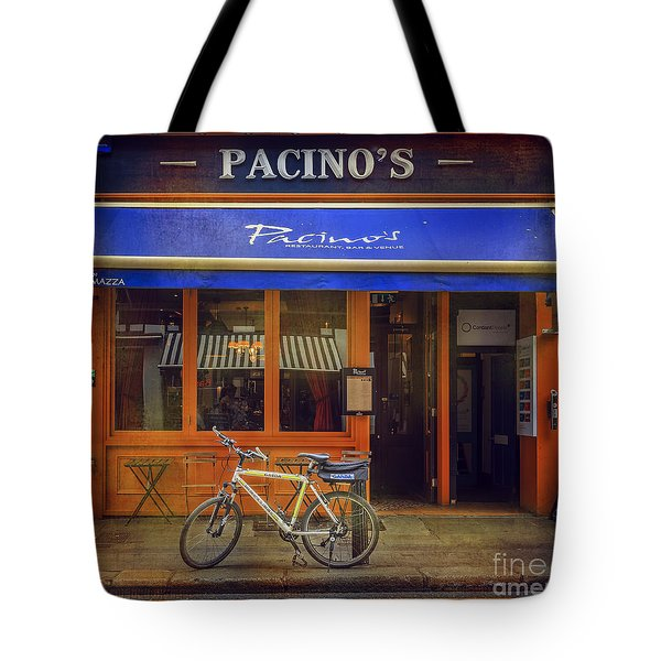 Pacino's Garda Bicycle Tote Bag by Craig J Satterlee