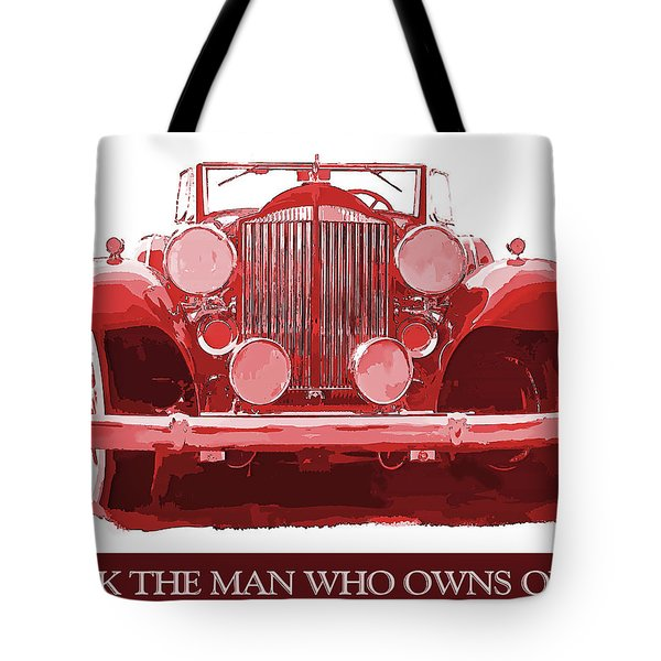 Packard Ask The Man Red Tote Bag