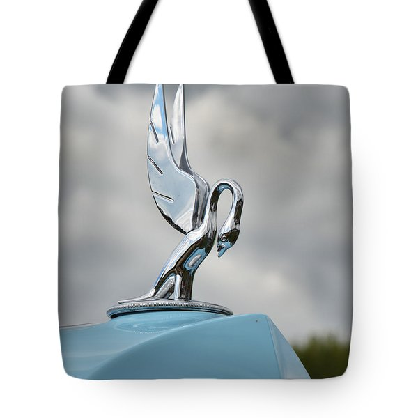 Packard Hood Ornament Tote Bag by Ann Bridges
