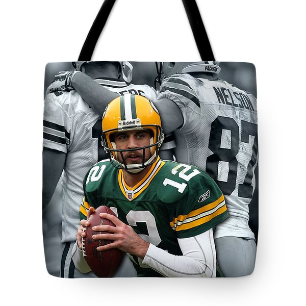 Packers Aaron Rodgers Tote Bag