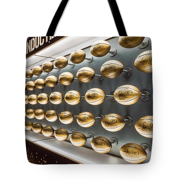 Packers Wall Of Fame Tote Bag