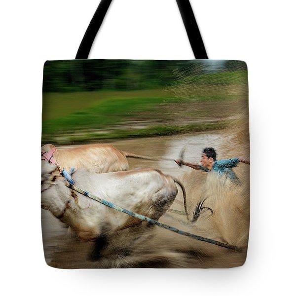 Pacu Jawi Bull Race Festival Tote Bag