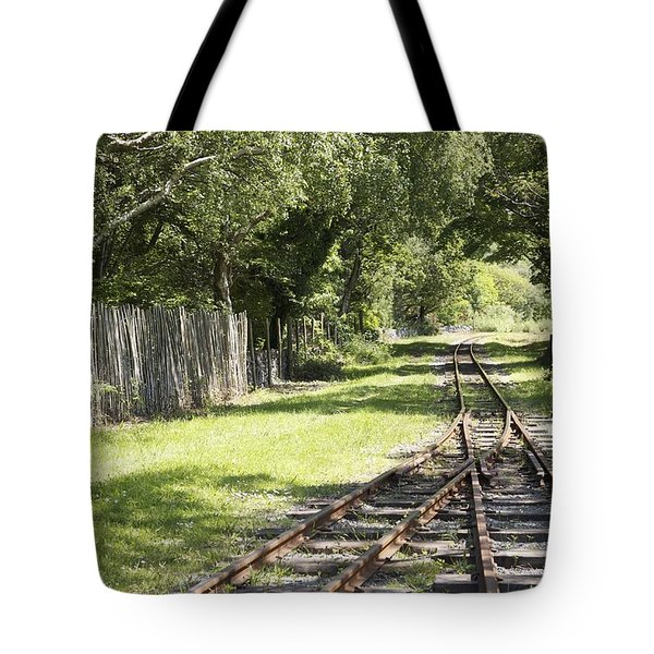 Tote Bag featuring the photograph Padarn Lake Railway by Christopher Rowlands