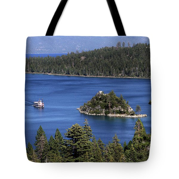 Tote Bag featuring the photograph Paddle Boat Emerald Bay Lake Tahoe California by Steven Frame