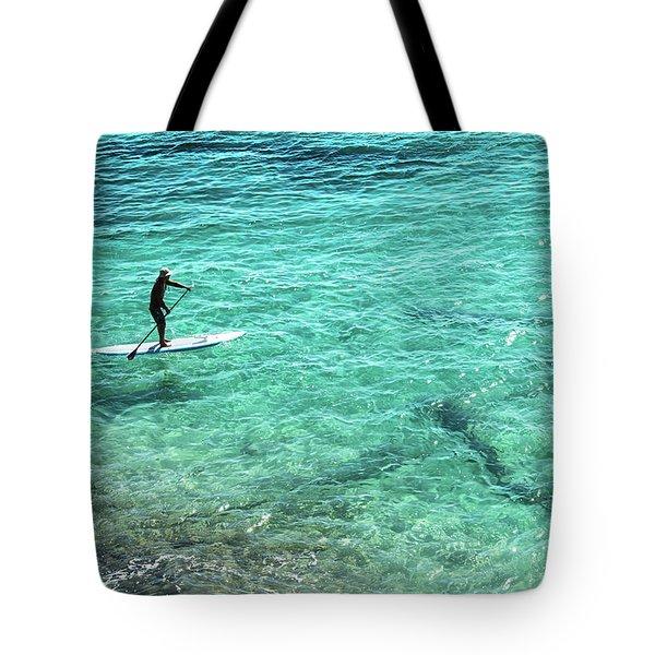 Paddle The Aqua Sea Tote Bag
