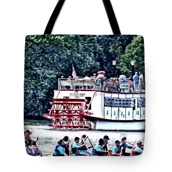 Paddleboat Tote Bag