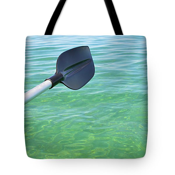 Tote Bag featuring the photograph Paddling Grand Traverse Bay by SimplyCMB