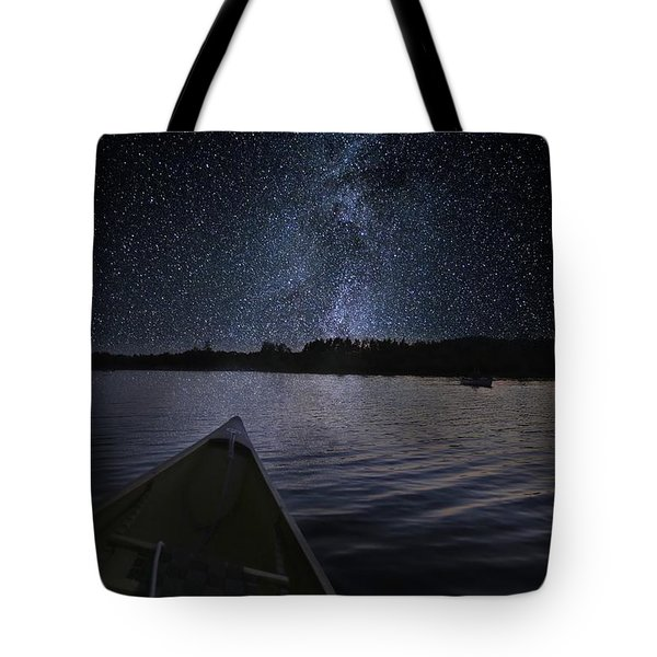 Paddling The Milky Way Tote Bag