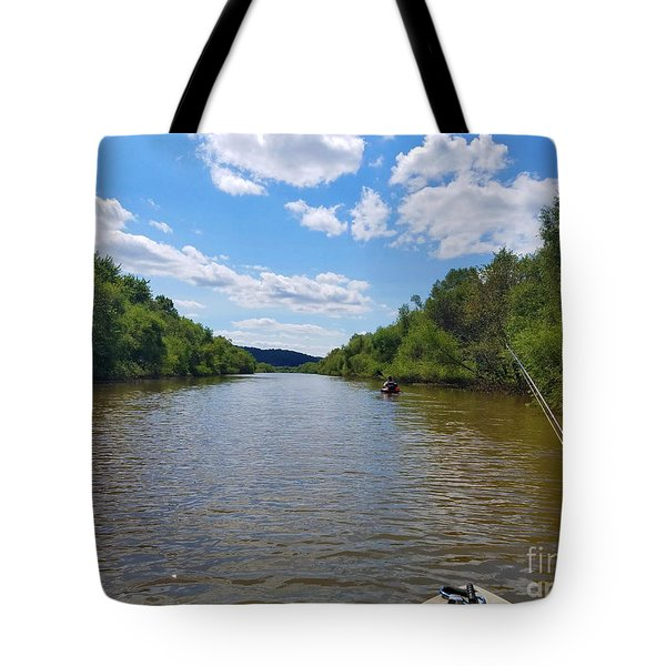 Paddling Up Crooked Creek Tote Bag
