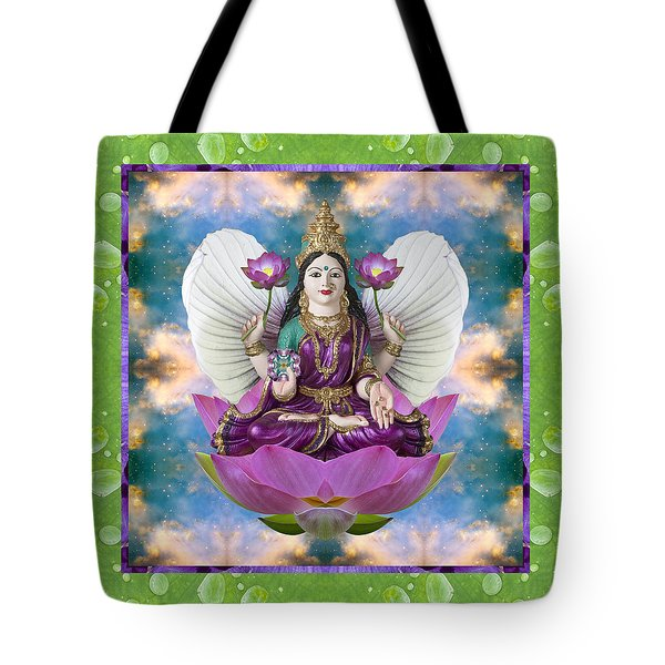 Tote Bag featuring the photograph Padma Lotus by Bell And Todd