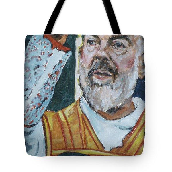 Padre Pio Tote Bag by Bryan Bustard