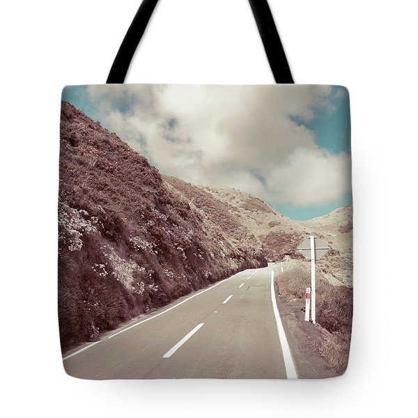Tote Bag featuring the photograph Paekakariki Hill Road by Joseph Westrupp