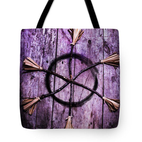 Pagan Or Witchcraft Symbol For A Gathering Tote Bag