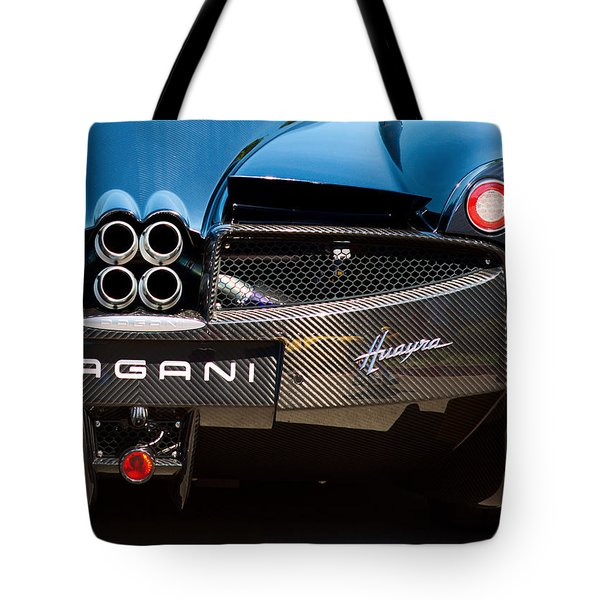 Pagani Huayra Black Tote Bag