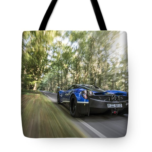 Pagani Huayra Road Trip Tote Bag
