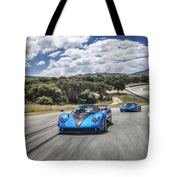 Pagani Zonda Hh And Koenigsegg Agera Hh Tote Bag