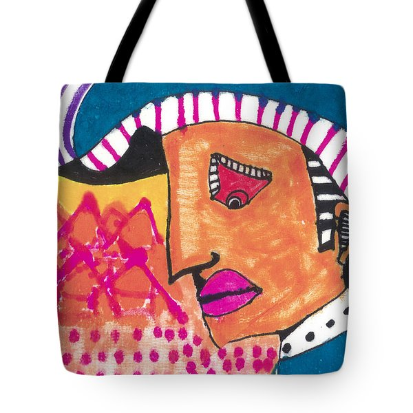 Tote Bag featuring the painting Pagliacci Tuscany by Don Koester