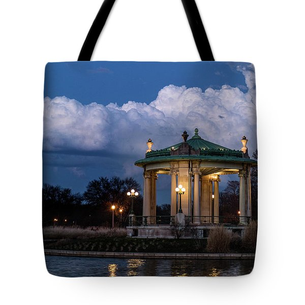 Pagoda At Sunset In Forest Park Tote Bag