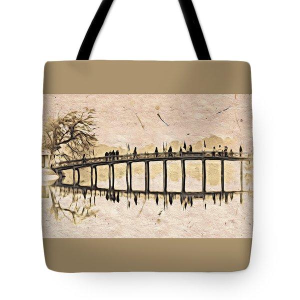Pagoda Bridge Tote Bag