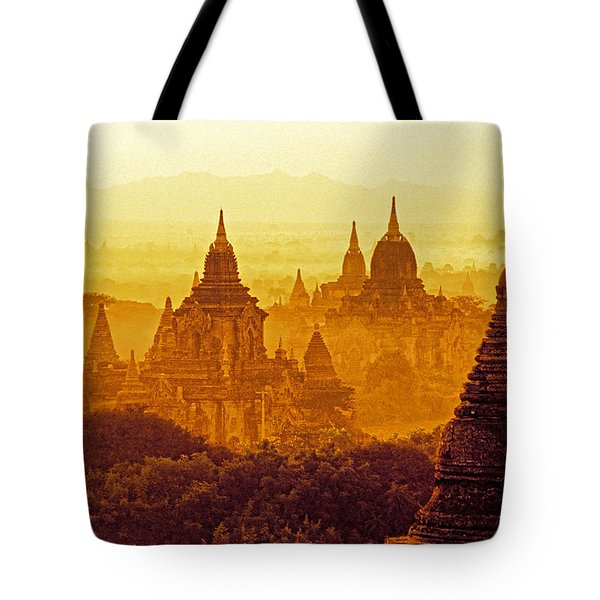 Pagodas Tote Bag by Dennis Cox WorldViews