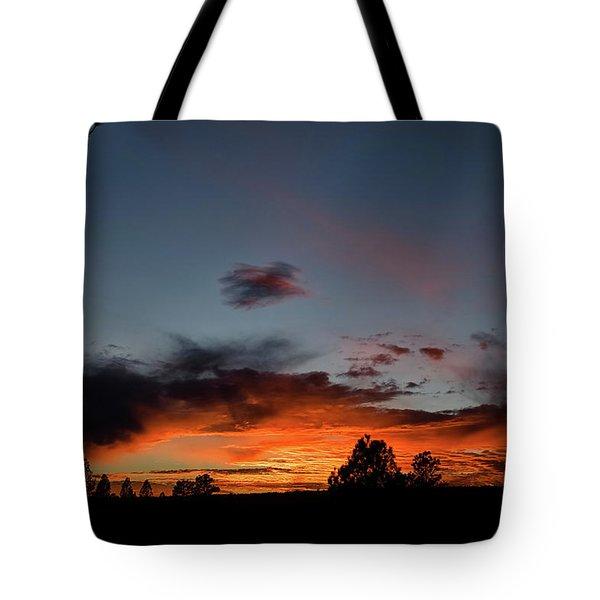 Pagosa Sunset 11-30-2014 Tote Bag